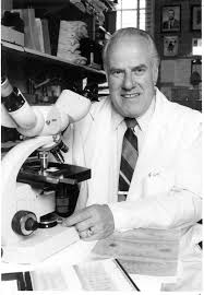 Dr. Willy Burgdorfer, discoverer of microbe causing Lyme disease.