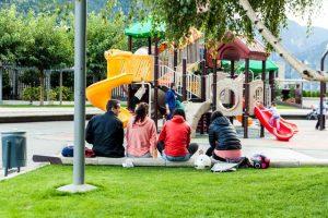 playground, park, recreational area