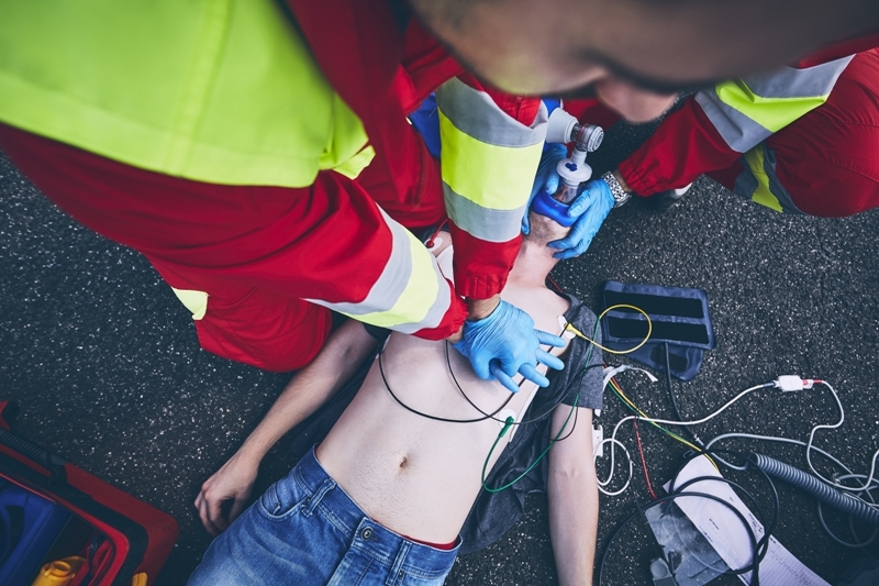 Boy with Lyme disease and atrial fibrillation being resuscitated by EMT